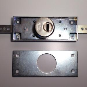 Serrure pour rideaux roulants metalliques, grilles acier, Viro 8271