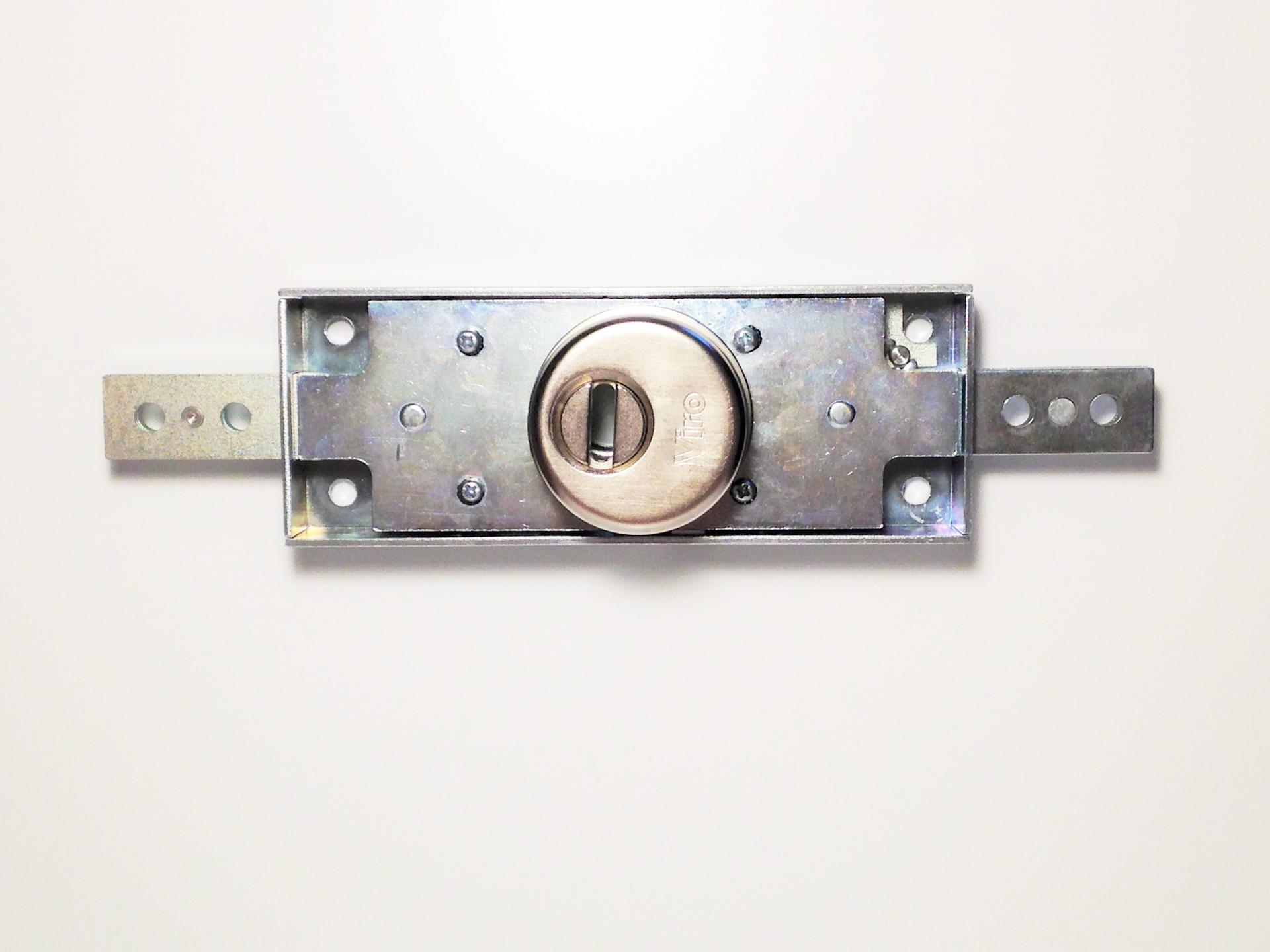 Serrure horizontale pour rideaux metalliques viro 8271