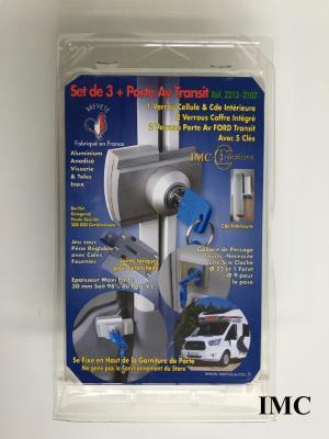 Set de 1 serrure pour cellule et 2 Serrures pour coffres, 2 Verrous a clé porte Av Ford TRANSIT  IMC 2213-2107