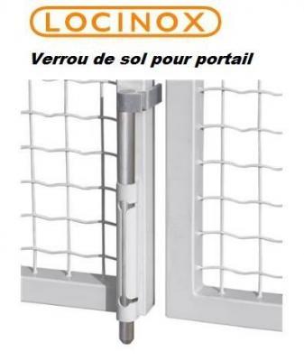 Verrou de sol ANTIVOL en applique LOCINOX VSA ALUMINIUM pour portail et grille
