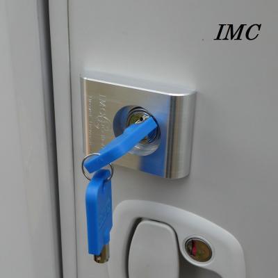 Verrou intégré pour coffre ou soute de camping-car, caravane, ambulance, food truck.  IMC 2210